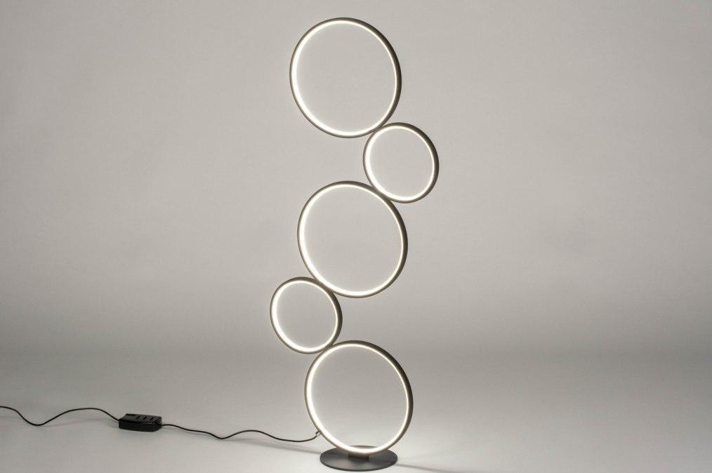 Vloerlamp 13588: modern, aluminium, metaal, zwart #0