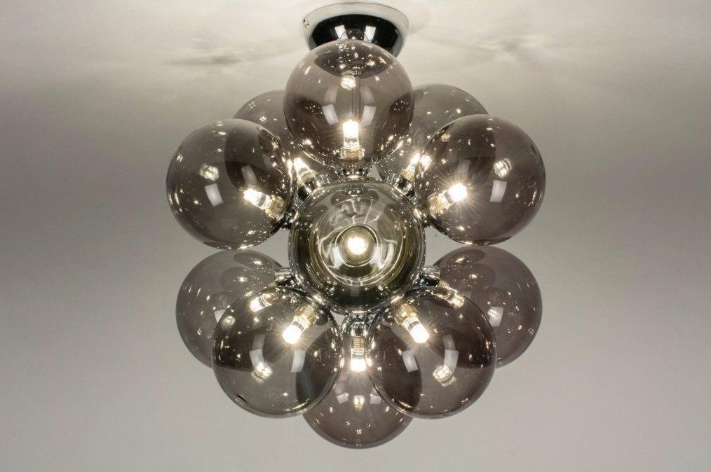Plafondlamp 13594: modern, retro, art deco, glas #0