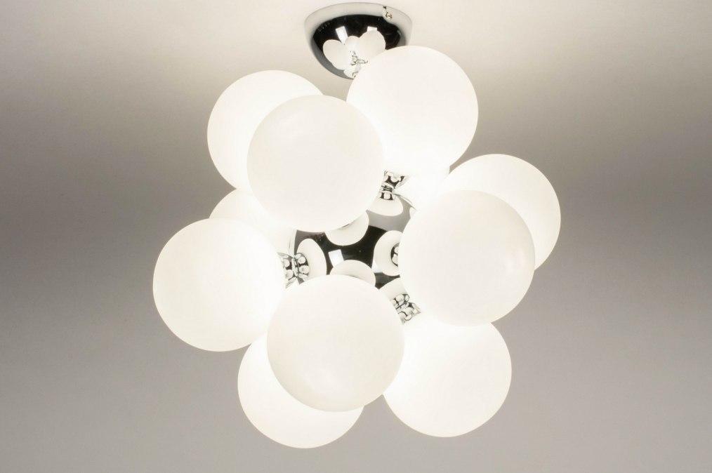 Plafondlamp 13595: modern, retro, art deco, glas #0