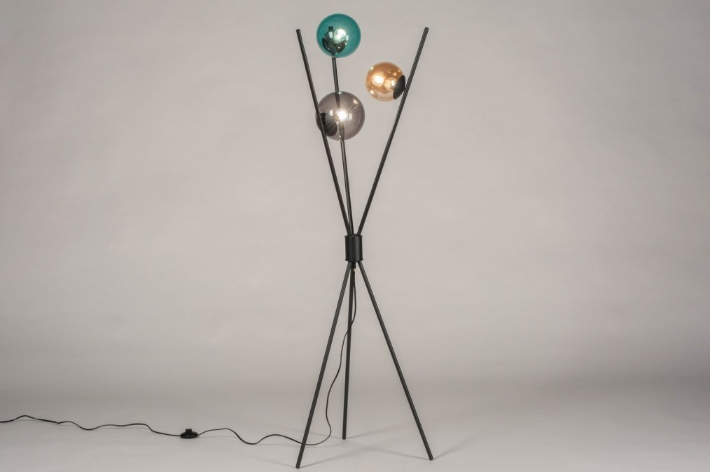 Vloerlamp 13600: modern, retro, art deco, glas #0