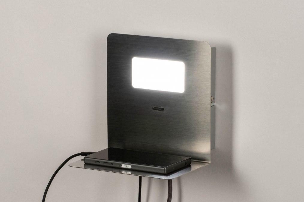 Wandlamp 13601: sale, modern, staal rvs, metaal #0