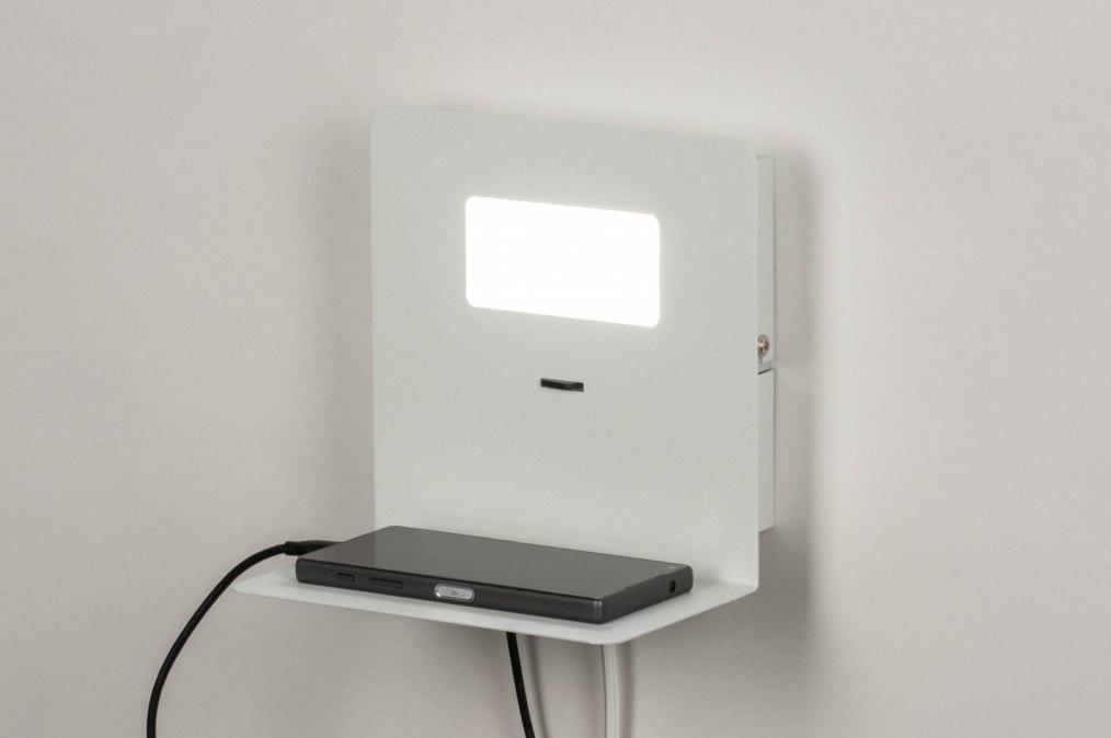 Wandlamp 13602: sale, modern, metaal, wit #0
