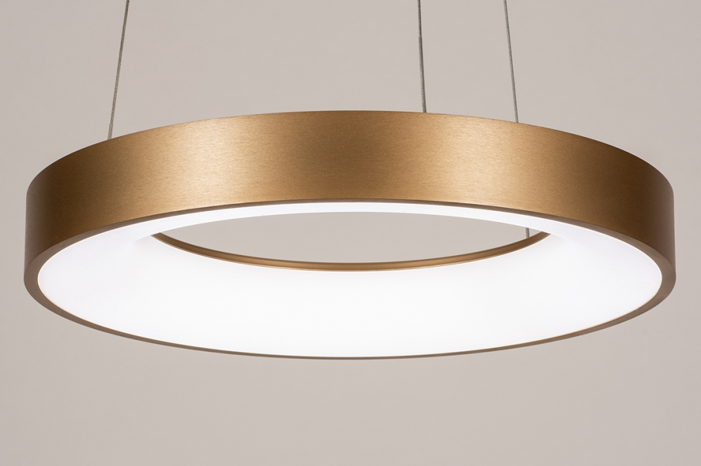 Hanglamp 13606: design, modern, metaal, goud #0