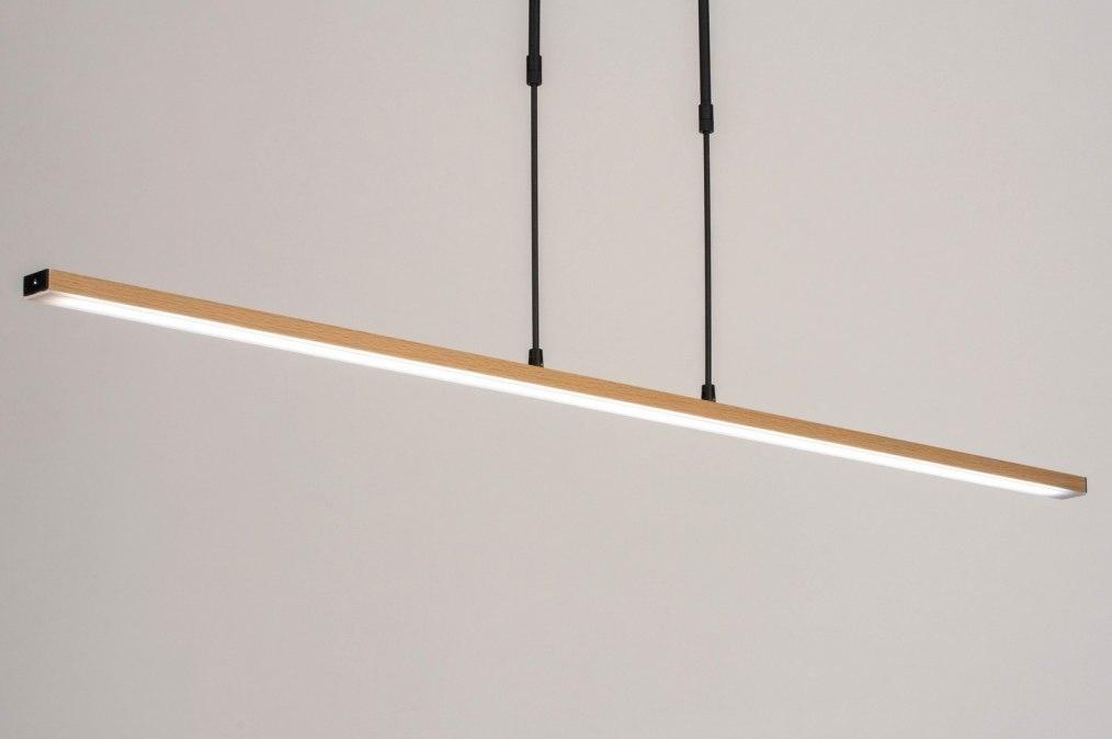 Hanglamp 13611: modern, hout, licht hout, metaal #0