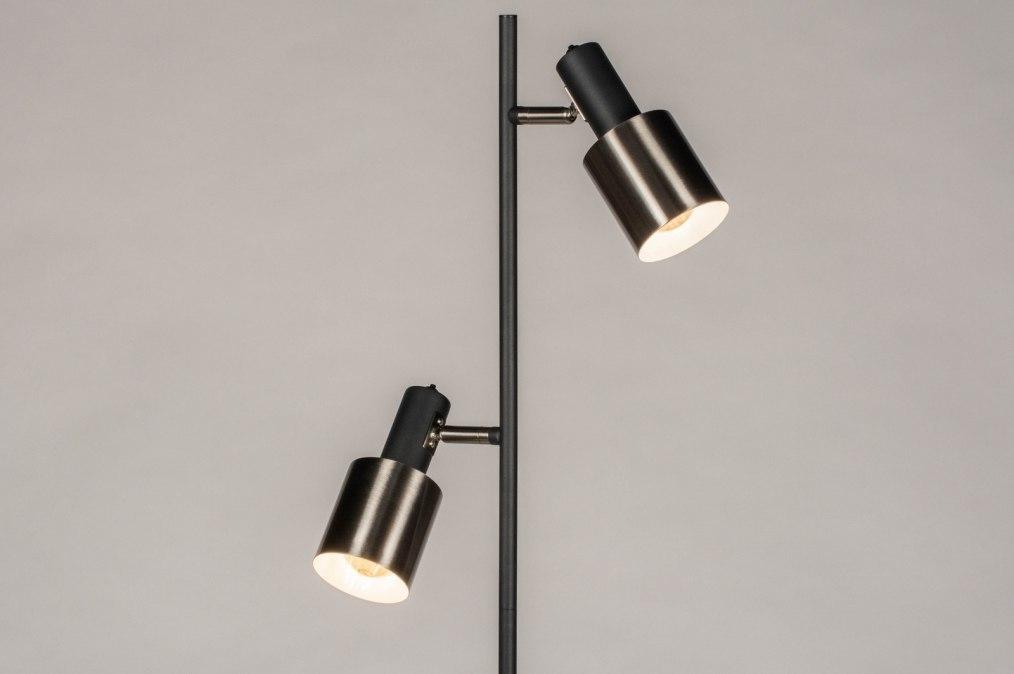 Vloerlamp 13614: modern, retro, staal rvs, metaal #0