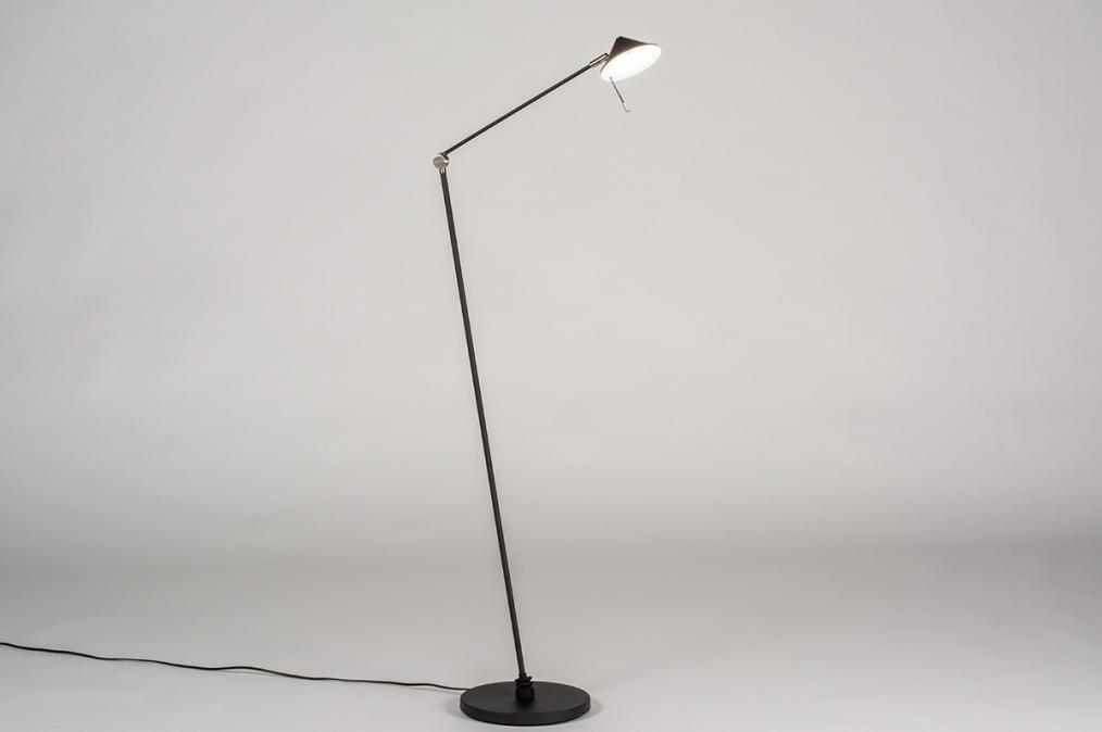 Vloerlamp 13621: design, modern, staal rvs, metaal #0