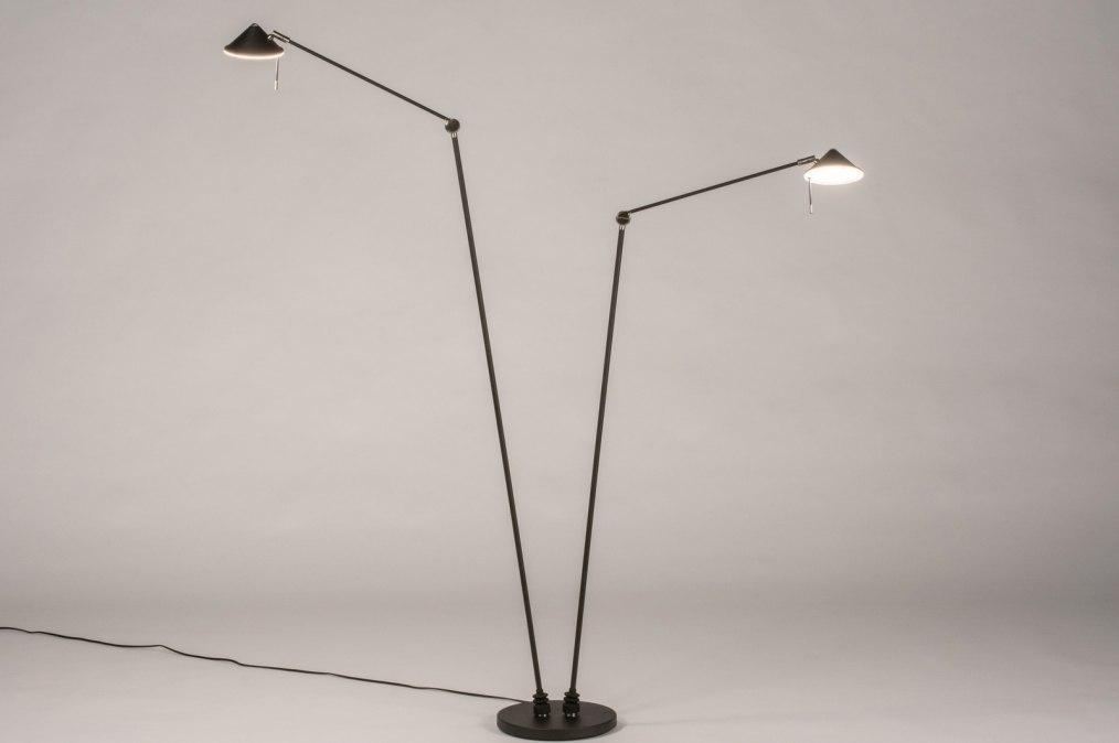 Vloerlamp 13622: design, modern, staal rvs, metaal #0