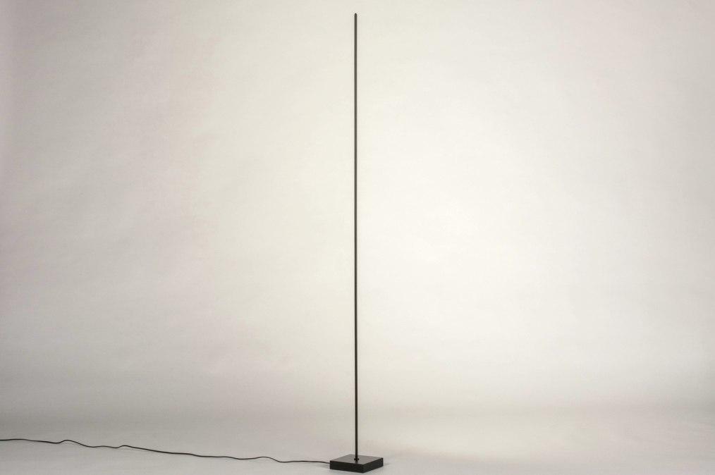 Vloerlamp 13636: design, modern, metaal, zwart #0