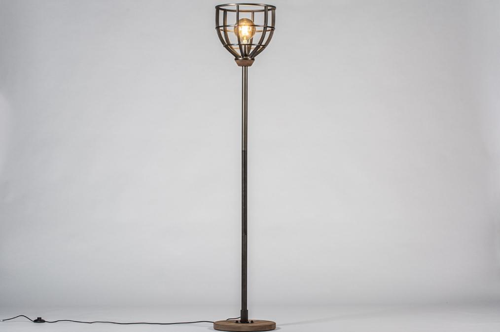 Vloerlamp 13639: industrie, look, modern, stoer #0