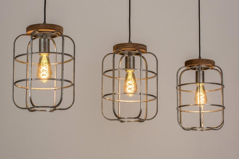 Hanglamp 13641: industrie, look, landelijk, rustiek #0