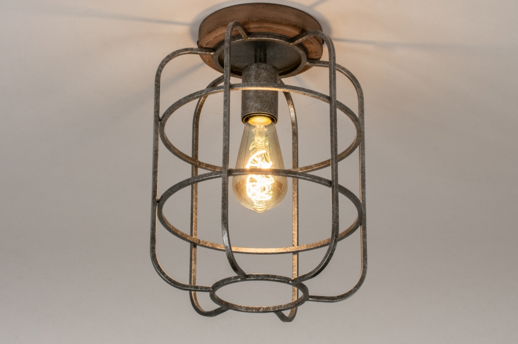 Plafondlamp 13642: industrie, look, landelijk, rustiek #0