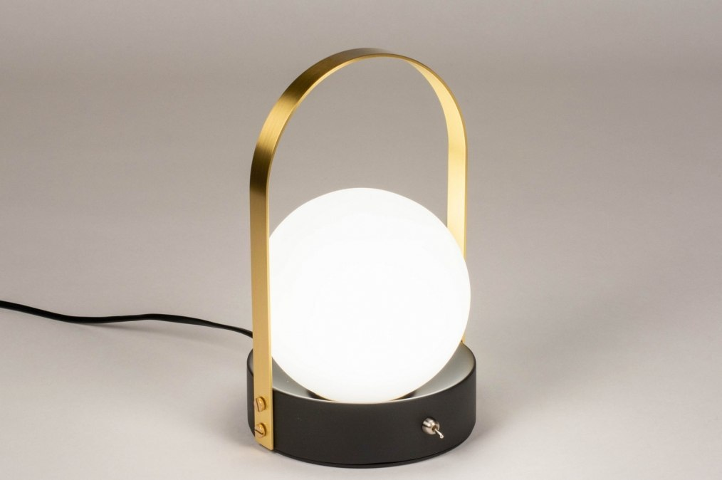 Tafellamp 13656: modern, eigentijds klassiek, art deco, glas #0