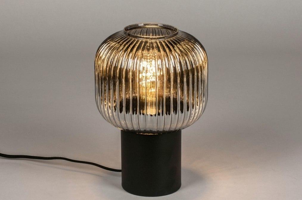 Tafellamp 13657: modern, retro, eigentijds klassiek, glas #0