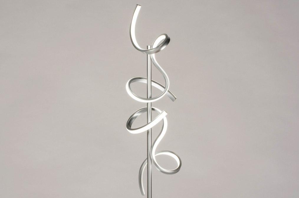 Vloerlamp 13672: modern, metaal, zilvergrijs, aluminium #0