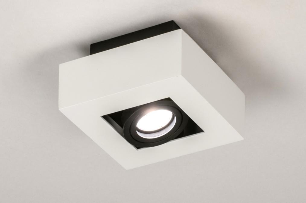 Plafondlamp 13782: design, modern, metaal, zwart #0
