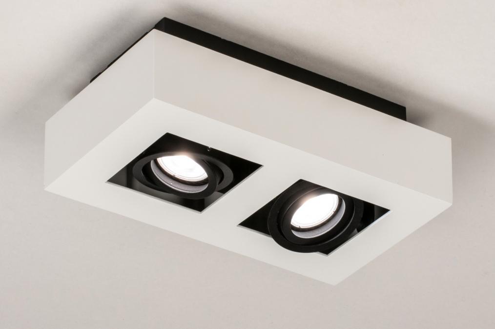 Plafondlamp 13785: design, modern, metaal, zwart #0