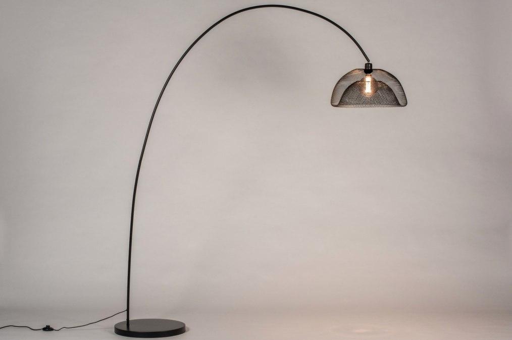 Vloerlamp 13790: metaal, zwart #0