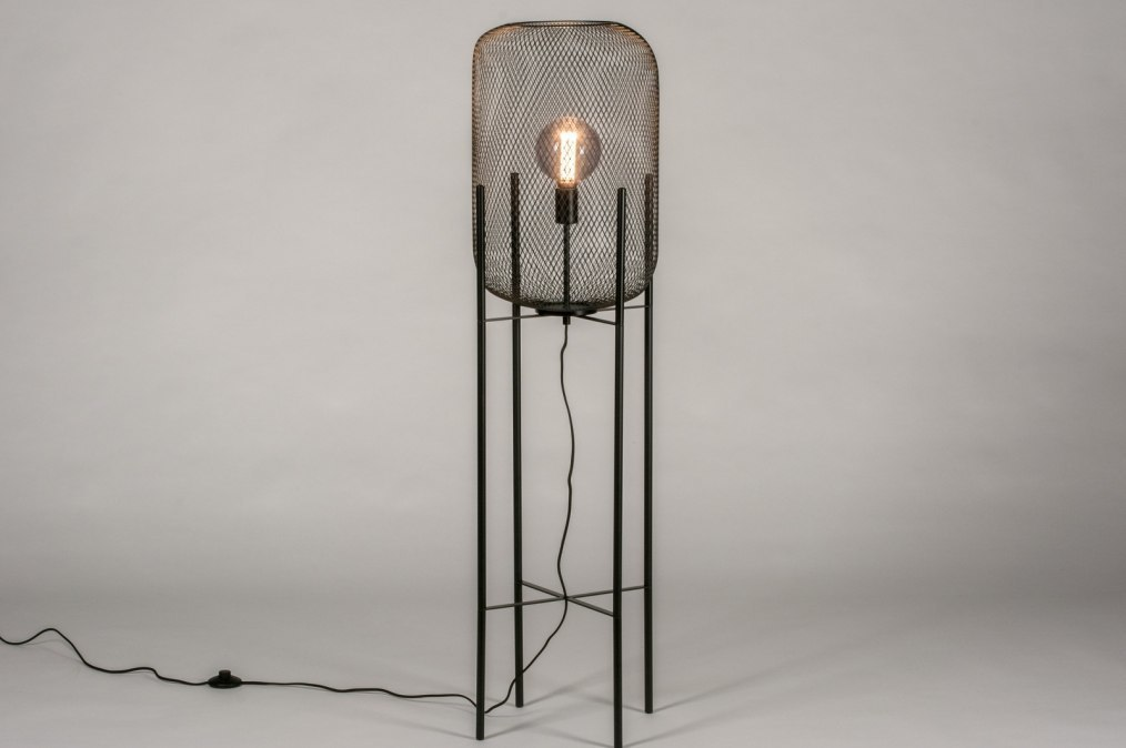 Vloerlamp 13791: industrie, look, landelijk, rustiek #0