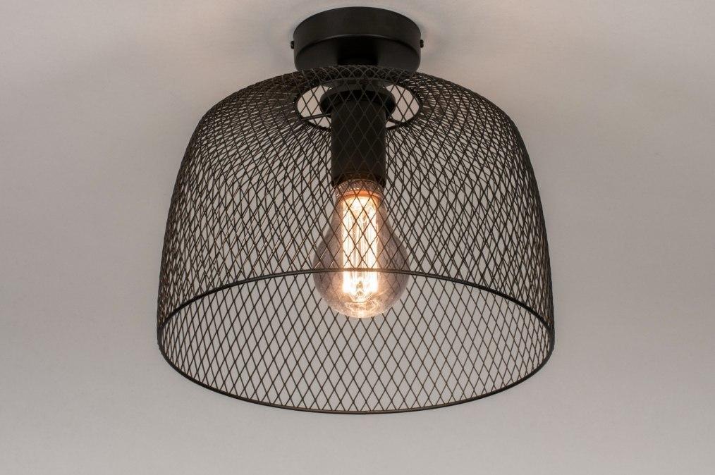 Plafondlamp 13792: industrie, look, landelijk, rustiek #0