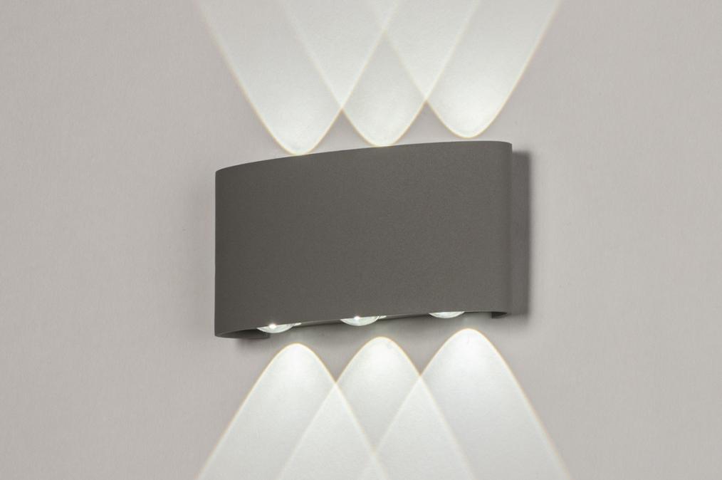 Wandlamp 13813: design, modern, metaal, grijs #0