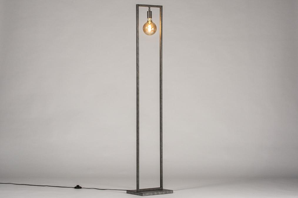 Vloerlamp 13814: industrie, look, landelijk, rustiek #0