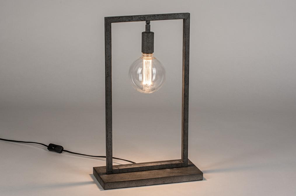 Tafellamp 13815: industrie, look, landelijk, rustiek #0