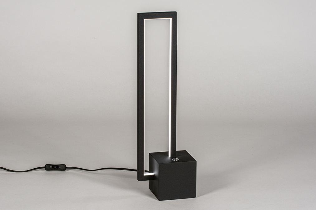 Tafellamp 13849: design, modern, metaal, zwart #0