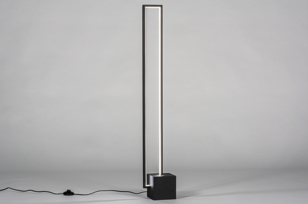 Vloerlamp 13850: design, modern, metaal, zwart #0