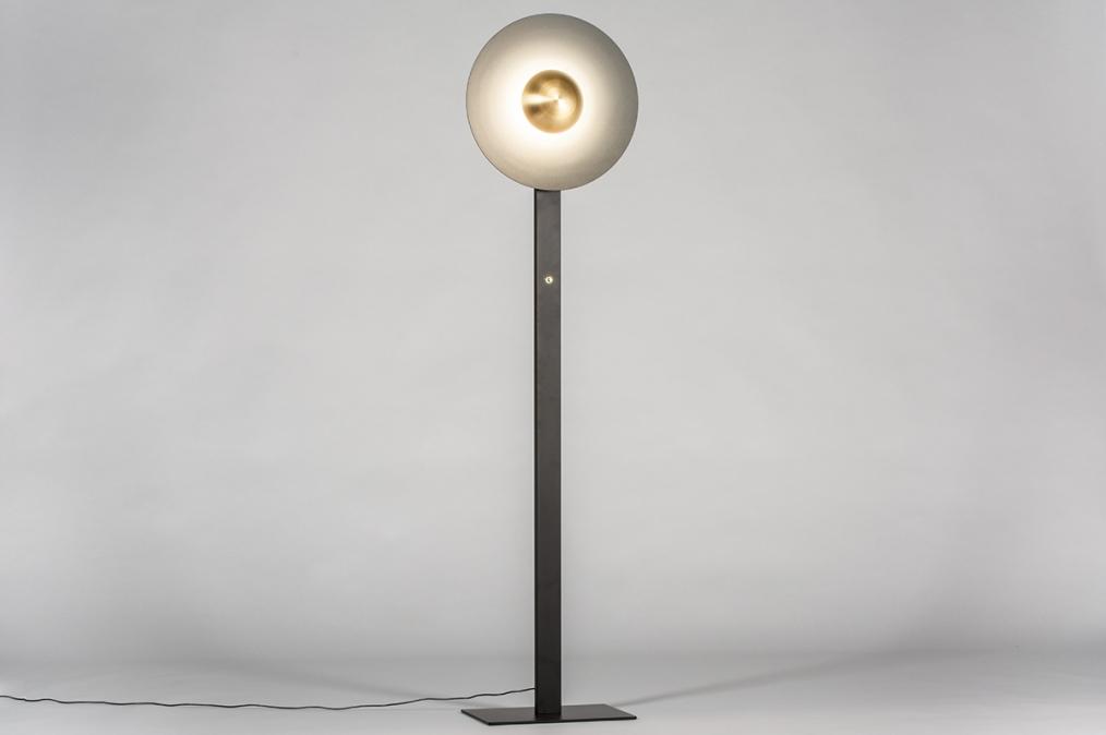 Vloerlamp 13851: design, modern, messing, geschuurd #0