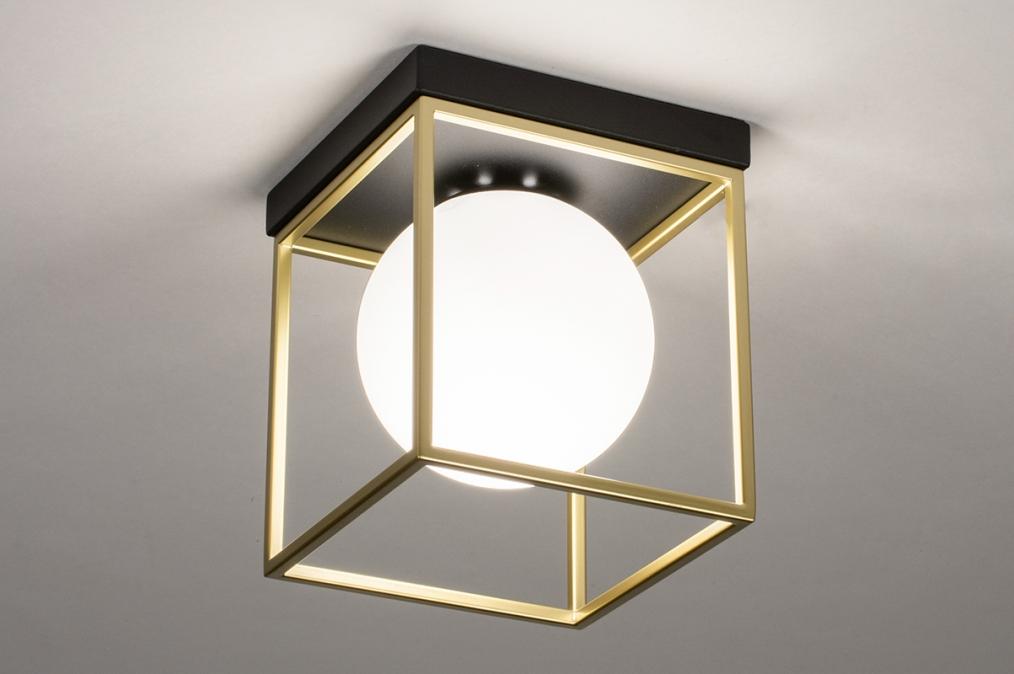 Plafondlamp 13861: modern, retro, eigentijds klassiek, art deco #0
