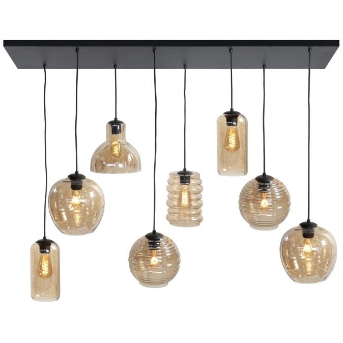 Hanglamp 13864: modern, eigentijds klassiek, glas, metaal #0
