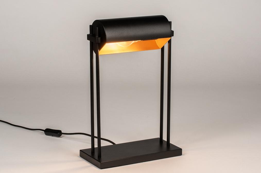Tischleuchte 13879: laendlich rustikal, modern, zeitgemaess klassisch, Metall #0