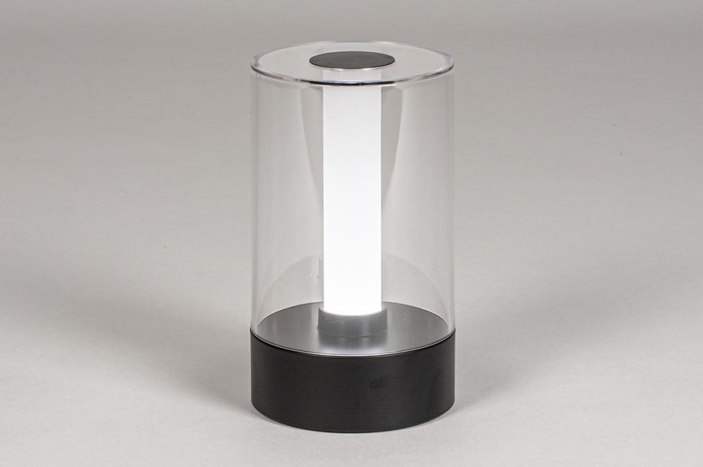 Tafellamp 13882: modern, kunststof, acrylaat kunststofglas, metaal #0