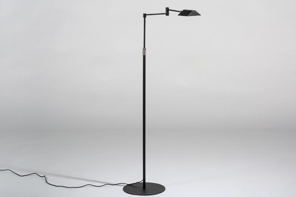 Vloerlamp 13890: modern, metaal, zwart, mat #0