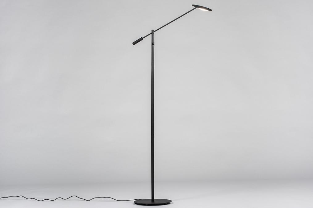 Vloerlamp 13894: design, modern, metaal, zwart #0
