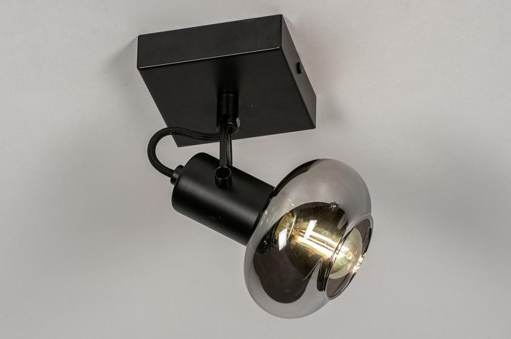 Plafondlamp 13895: modern, retro, glas, metaal #0