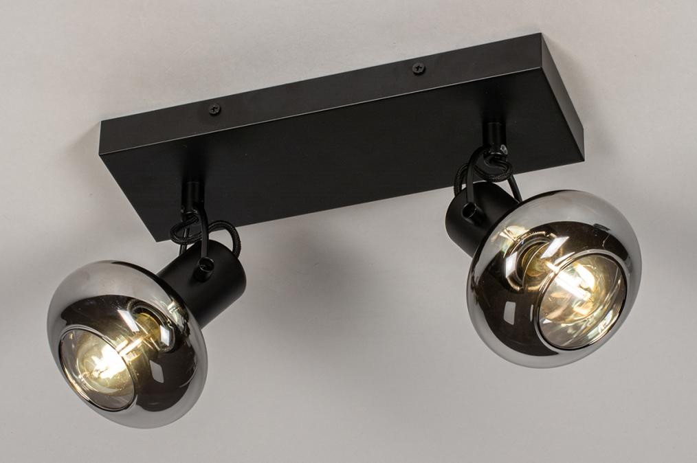 Plafondlamp 13896: modern, retro, glas, metaal #0