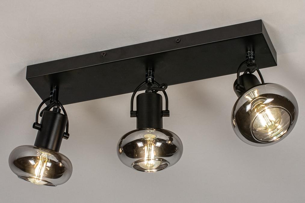 Plafondlamp 13897: modern, retro, glas, metaal #0