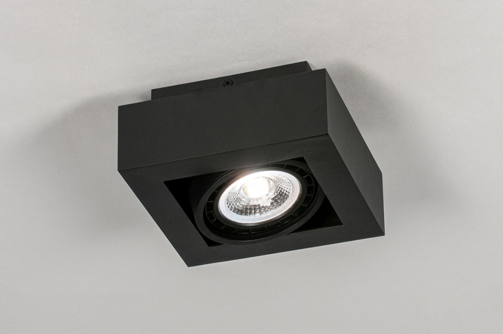 Plafondlamp 13931: modern, stoer, raw, aluminium #0