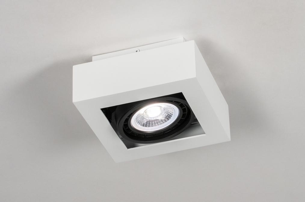 Plafondlamp 13932: modern, stoer, raw, aluminium #0
