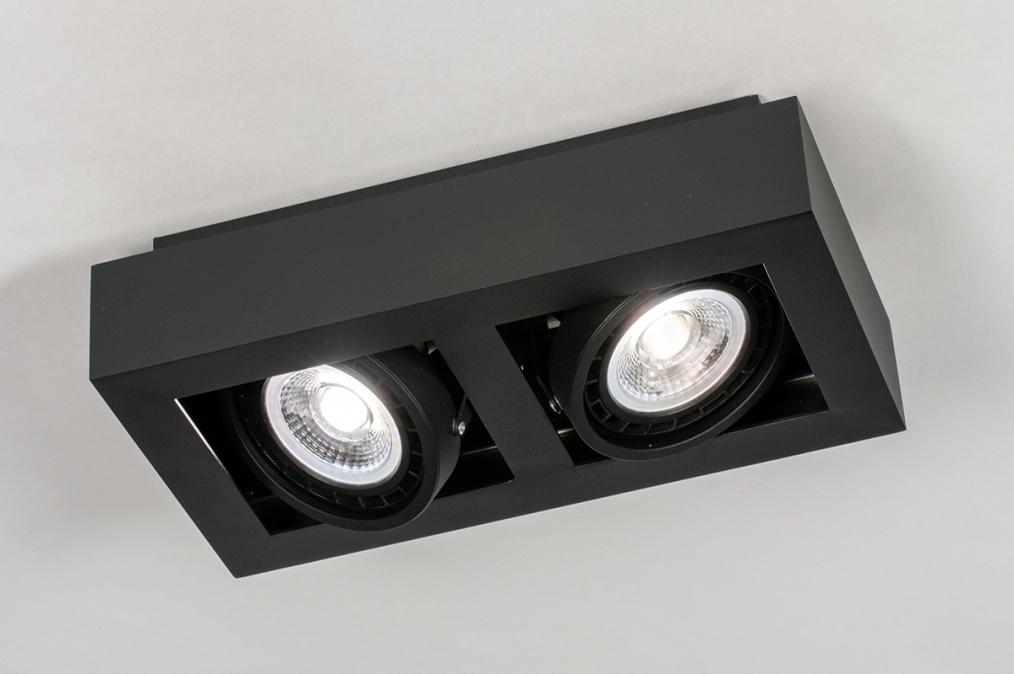Plafondlamp 13933: modern, stoer, raw, aluminium #0