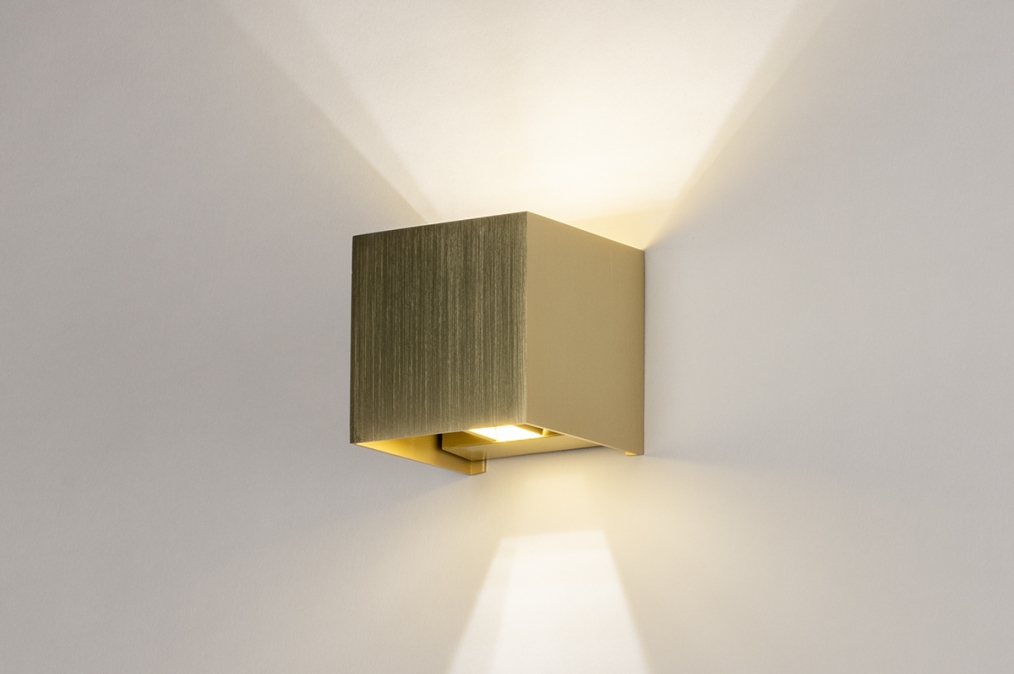 Wandlamp 13935: modern, eigentijds klassiek, art deco, messing #0