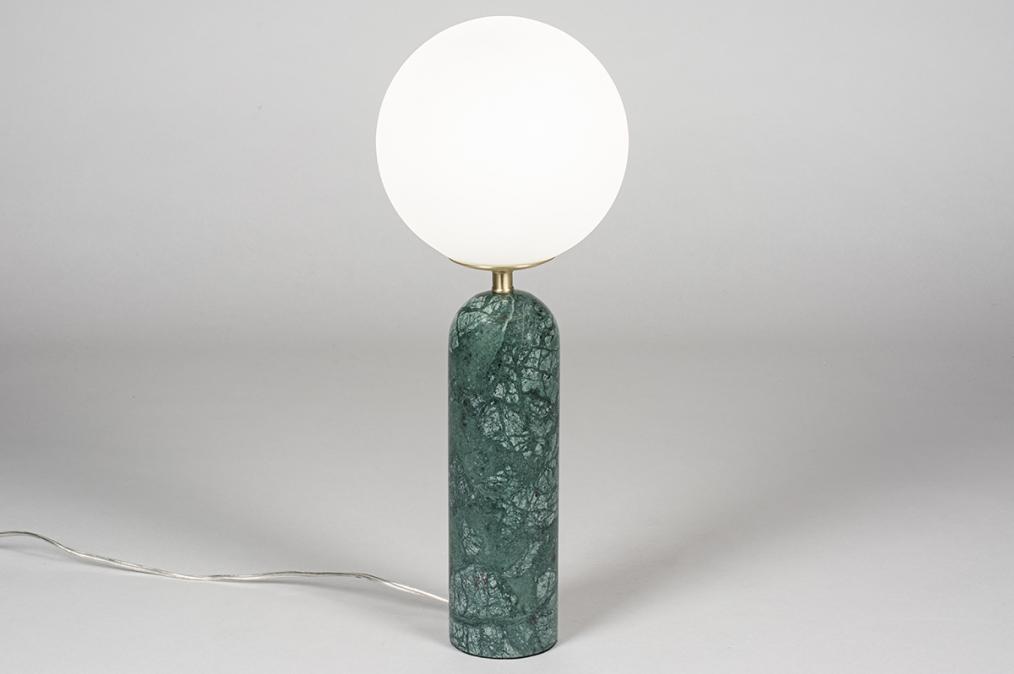 Tafellamp 13986: design, modern, glas, wit opaalglas #0