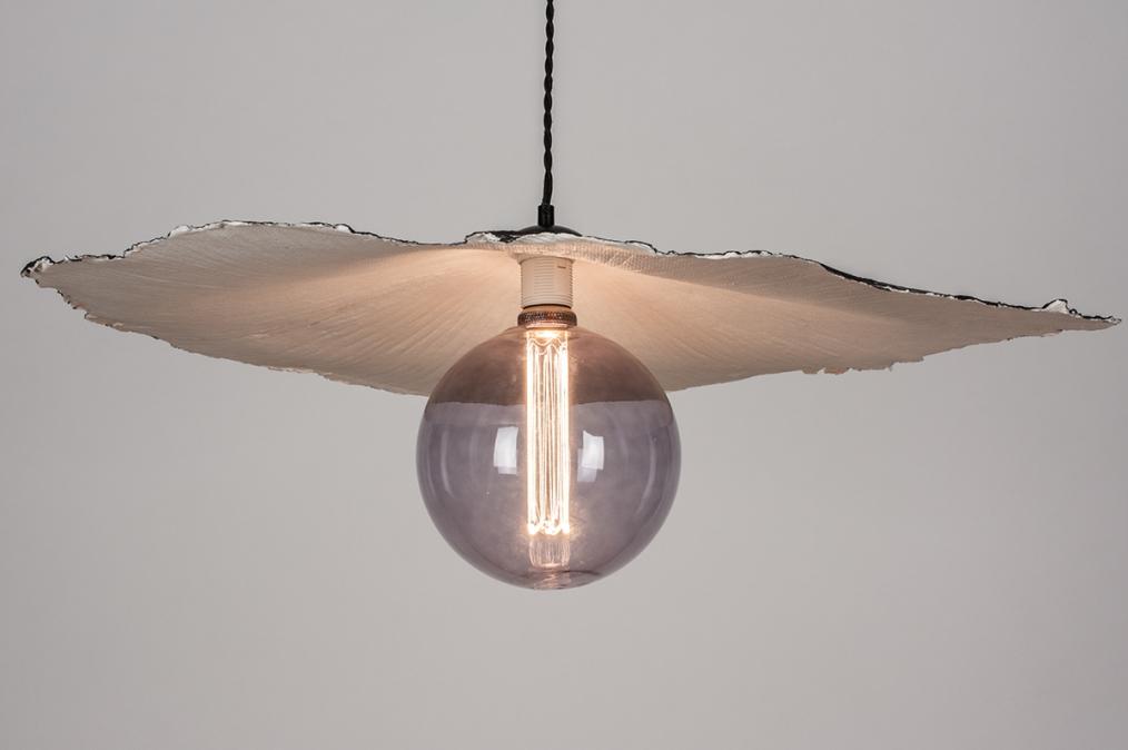 Hanglamp 14005: design, modern, wit, rond #0