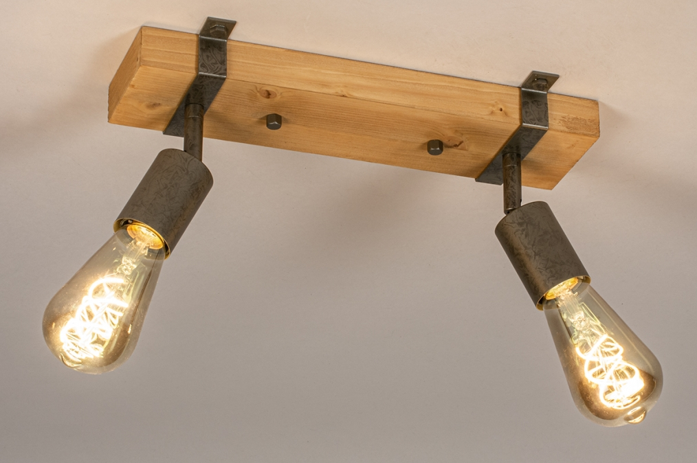 Plafondlamp 14021: industrie, look, modern, stoer #0