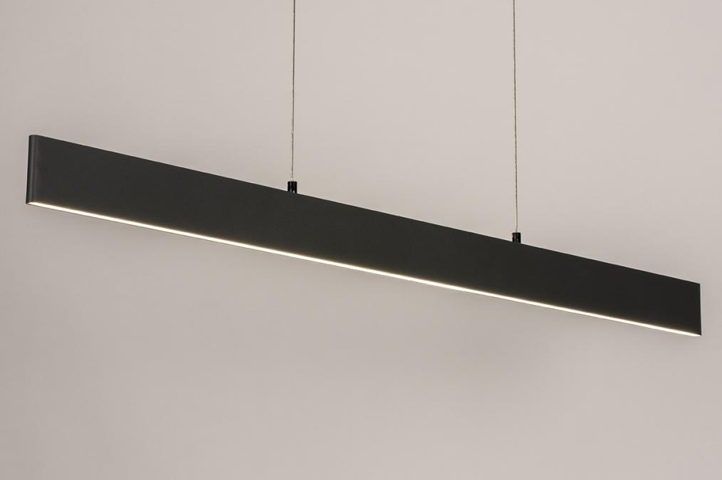 Hanglamp 14024: design, modern, metaal, grijs #0