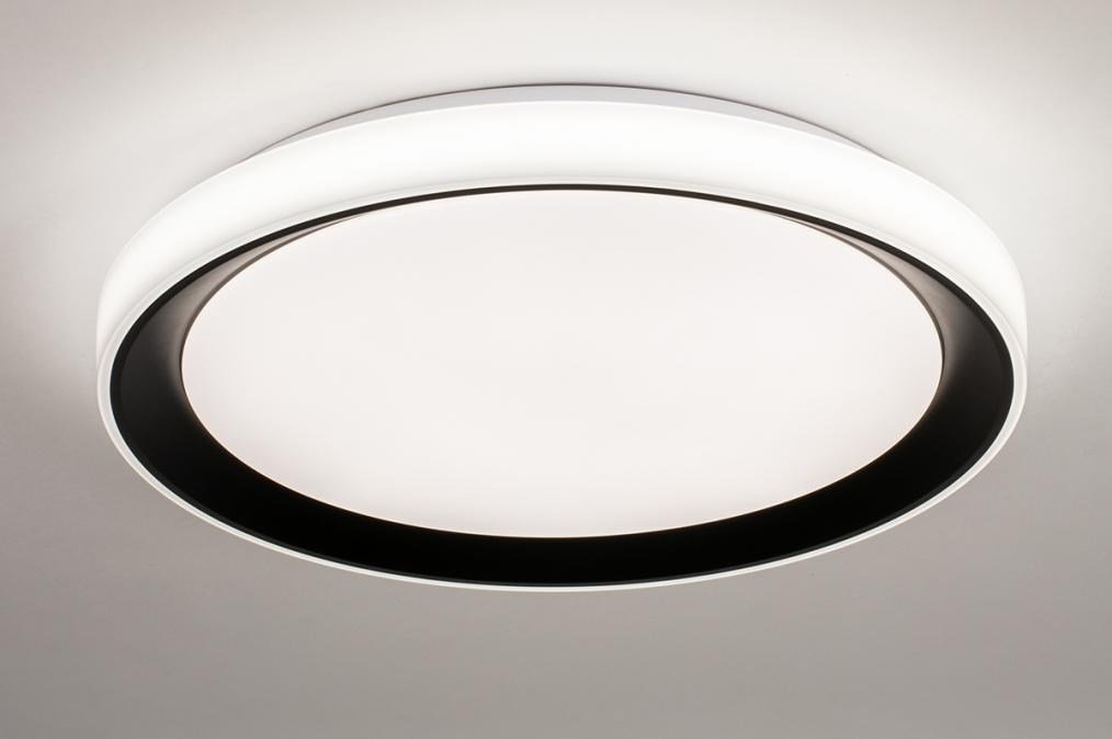 Plafondlamp 14071: modern, kunststof, zwart, mat #0