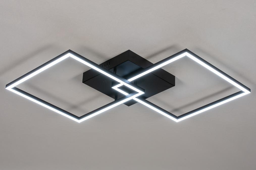 Plafondlamp 14073: design, modern, kunststof, metaal #0