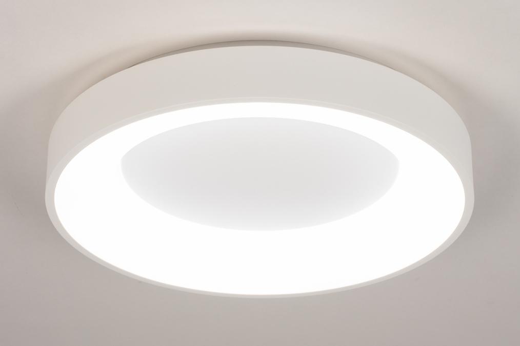 Plafondlamp 14098: modern, kunststof, metaal, wit #0