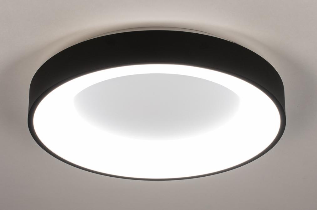 Plafondlamp 14099: modern, kunststof, metaal, zwart #0